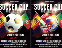 Football World Cup 2018 Flyer Template