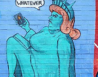 Modern Day Lady Liberty Mural