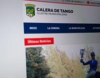 Website Municipalidad (town hall) Calera de Tango