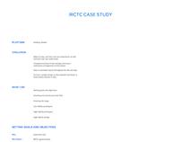 Case study : Irctc