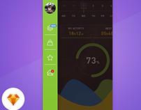 Menu - Day77/100 My UI/UX Free SketchApp Challenge
