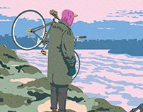 Illustration for open season cyclists