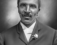 George Washington Carver Digital Art by Wayne Flint