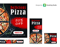 Free Pizza Store Web Ads Banner Set
