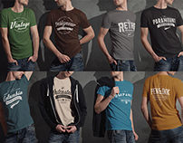 Male T-shirt Mock-up  PSD