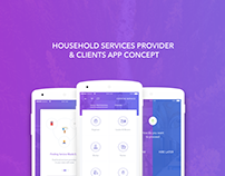 Household Service Provider App Design Concept