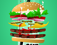 Two artwork for Displate fast food contest