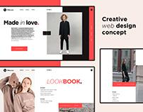 Web design concept for White Crow