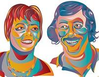 Gerda & Theo Vector Portrait