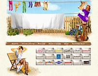 Дизайн сайта с иллюстрациями в стиле Пин-ап