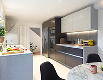 Contemporary kitchen, East London