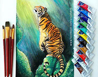 Tiger - watercolour painting