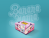 Banana Mama - logo, stickers & package design