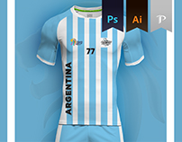 Argentina Home Kit 2016 - Kabbadi World Cup