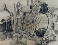 Observational Still Life drawing
