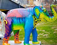 Mali in the City elephant paint job