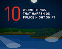 Police night shift from a Detective Crime Author