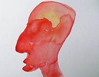Red and Purple portrait profiles