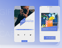 Gift a card concept for a social connect app