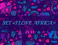 "Set ""I love Africa"""