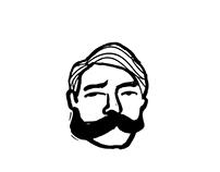 ILLU: Moustache n Handsome Sailor