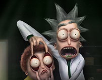 """Untooned"" Rick and Morty."