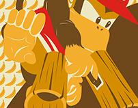 Ilustración Diddy Kong