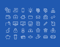 50+ Useful Line Icon Sets for Modern Designers