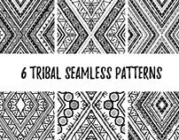 6 Tribal seamless patterns