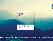 Greece. Color of the Year