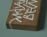 MAY·THE·FORCE·BE·WITH·YOU / woodcarved lettering