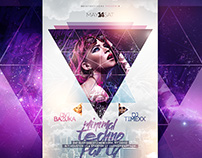 Minimal Techno Party FREE PSD Flyer Template
