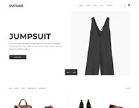 Outside - Minimalist eCommerce Template