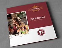 Eat & Gossip Square Trifold Brochure