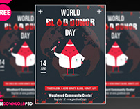 World Blood Donor Day Flyer Template + Social Media Pos