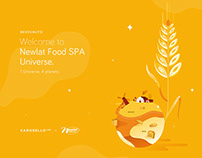 NEWLAT Food World | Illustration & Exhibition Design