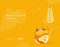NEWLAT Food World | Illustration & Exhibition Design