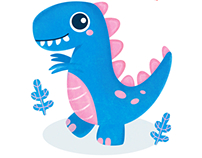 Draw a little dinosaur for baby every day