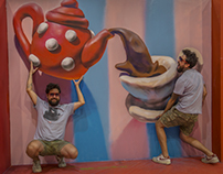 Teapot, Trick Art Exhibition, Israel, 2017