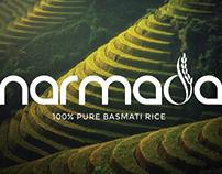 Narmada Basmati Rice Logo Design