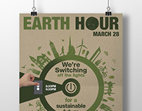 Earth Hour 2015 Poster & Digital Screen Image