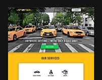 Taxi Website Design Concept