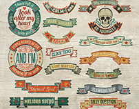 Vintage ribbons and banners