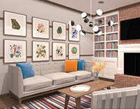 History of Interior Design: Shaker Style Living Room