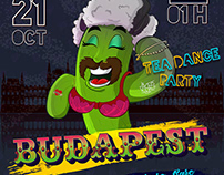 Budpest party poster design