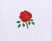 WILD AND THORNY RED ROSE EMBROIDERY DESIGN