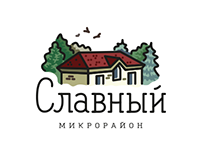 "Logo of the ""Slavniy"" neighborhood"