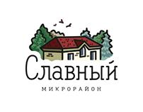 "Logo of the ""Slavniy""neighborhood"