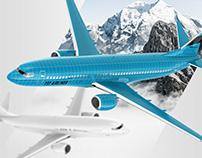 Boeing 737 Jet Airliner Mockup