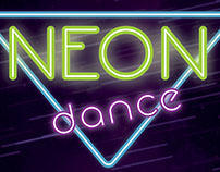 Neon Dance Party Poster